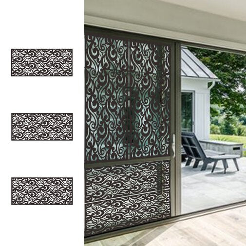 4 ft. H x 6 ft. W Laser Cut Metal Privacy Screen