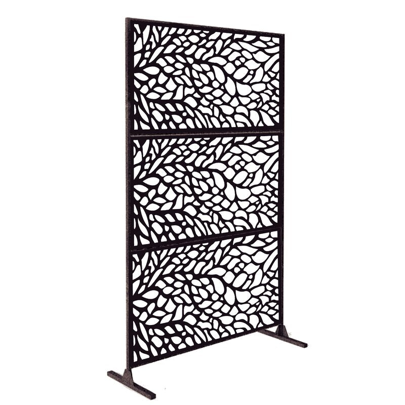 6.5 ft. H x 4 ft. W Laser Cut Metal Fence Panel