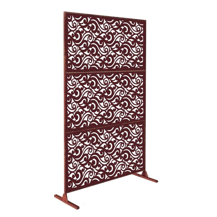 6 ft. H X 4 ft. W Laser Cut Steel Privacy Screen