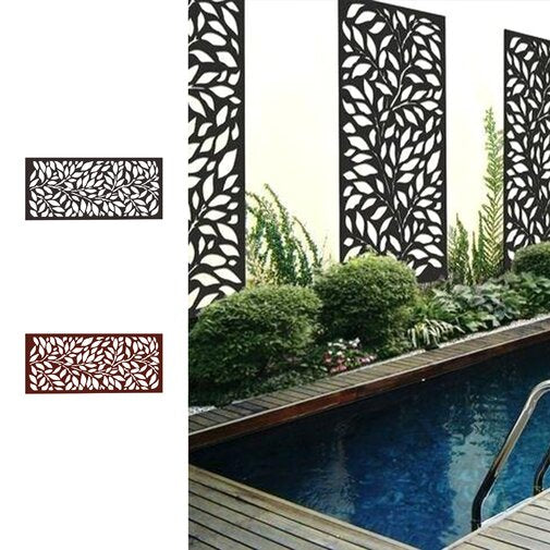 4 ft. H x 4 ft. W Metal Privacy Screen