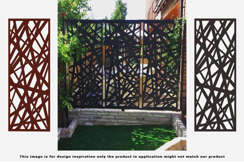 6' H x4' W Laser Cut Metal Privacy Screen Fence, Metal Tree Metal Wall Art, Outdoor Indoor Privacy, Panel, Garden Screen, Restaurant Decor