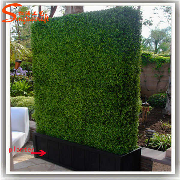 Artificial Boxwood Panels Privacy Fence ScreenUV Resistant Topiary Hedge for Outdoor Indoor Use