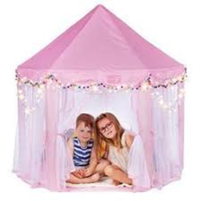 Princess Tent Girls Large Playhouse Kids Castle Play Tent with Star Lights Toy for Children Indoor and Outdoor Games, 55'' x 53'' (DxH)