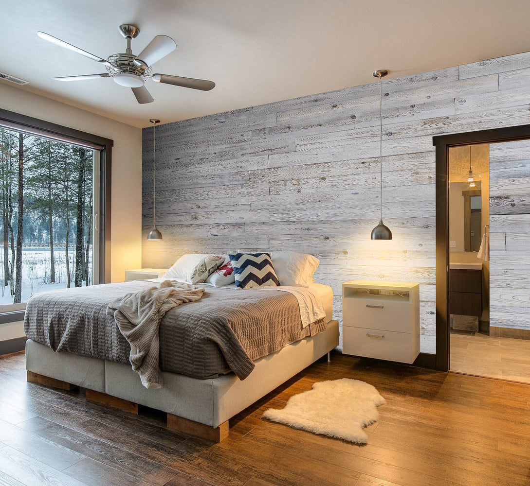 Self Adhesive Wall Panels Peel & Stick Rustic Reclaimed Barn Wood Paneling (Style: C35)
