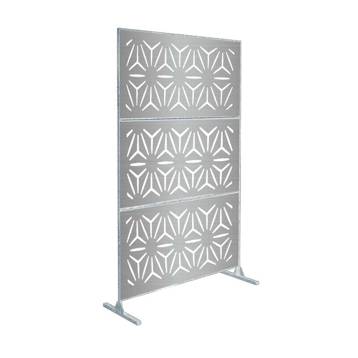 6 ft. H x 4 ft. W Laser Cut Decorative Metal Privacy Screen