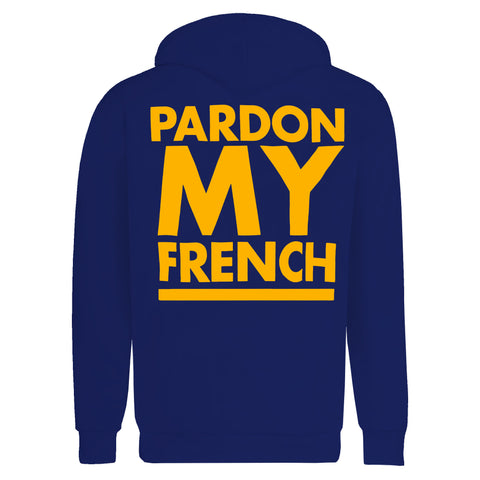 PARDON MY FRENCH CLASSIC HOODIE BLUE