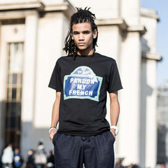 T-SHIRT PARIS STREET BLACK