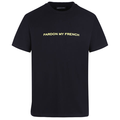 TSHIRT SIGNATURE PMF BLACK + LEMON PRINT