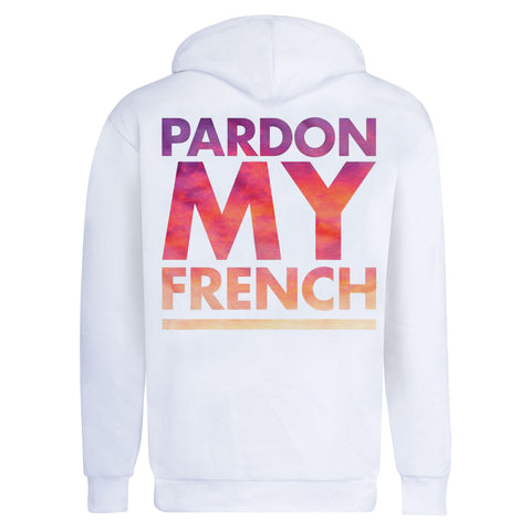 PARDON MY FRENCH CLASSIC HOODIE WHITE