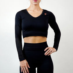 Celestial Crop Top - Black