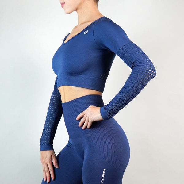 Celestial Crop Top - Royal Blue