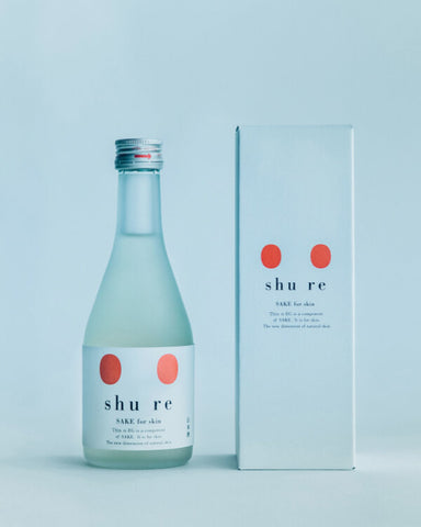 """Sake and skincare products from a new brand called """"shu-re"""", based in Ishikawa Prefecture."""