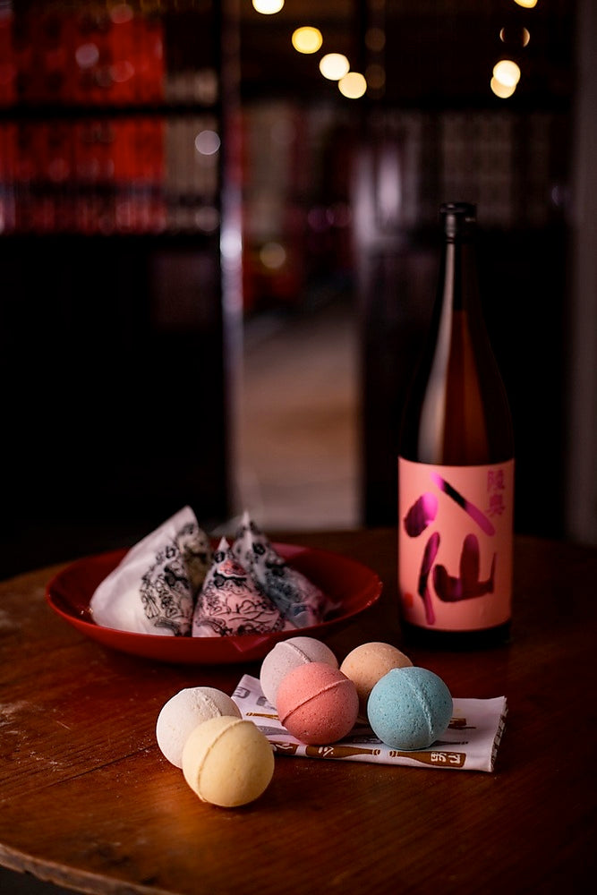 "Sake Bath Bombs ""Bijin No Yu"" - Gift Set (6 X Pieces) - Sorakami"