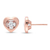 10K Rose Gold Diamond Earrings 1/7 ct