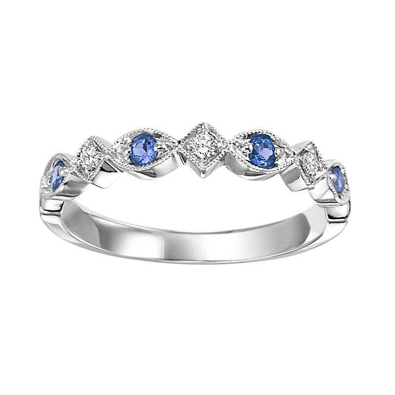 10K White Gold Diamond Stackable Ring 1/5 ct