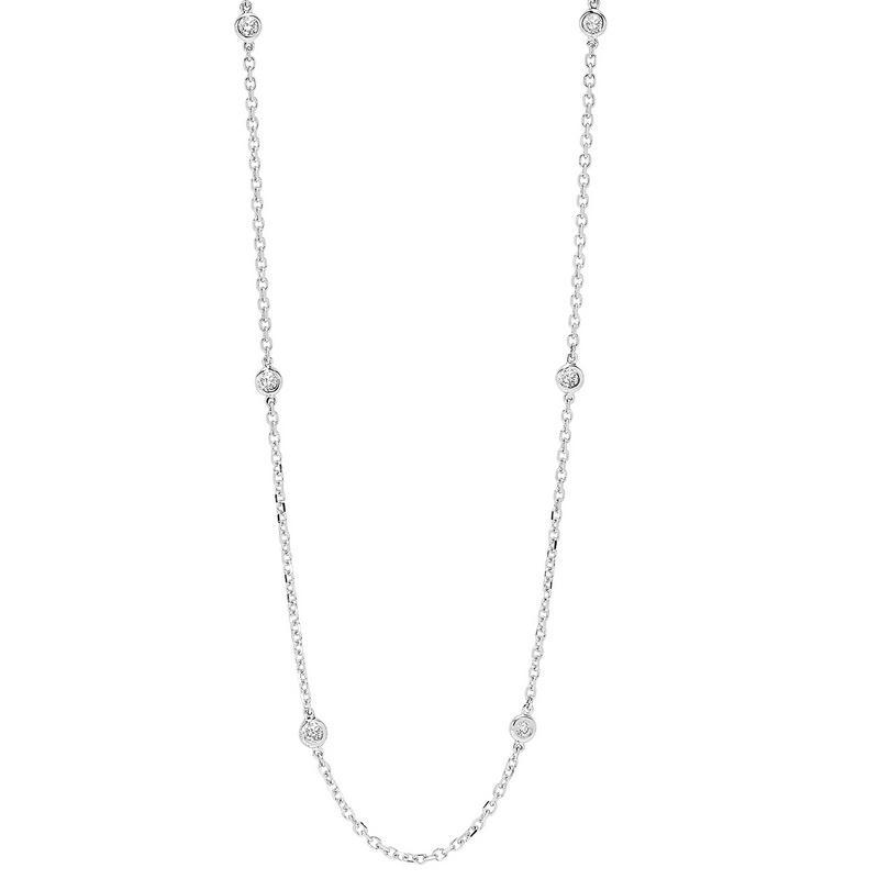 14K White Gold Diamond 1 1/2 ct Necklace