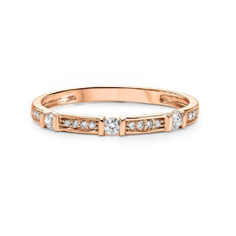 10K Rose Gold Diamond Mixable Ring 1/6 ct