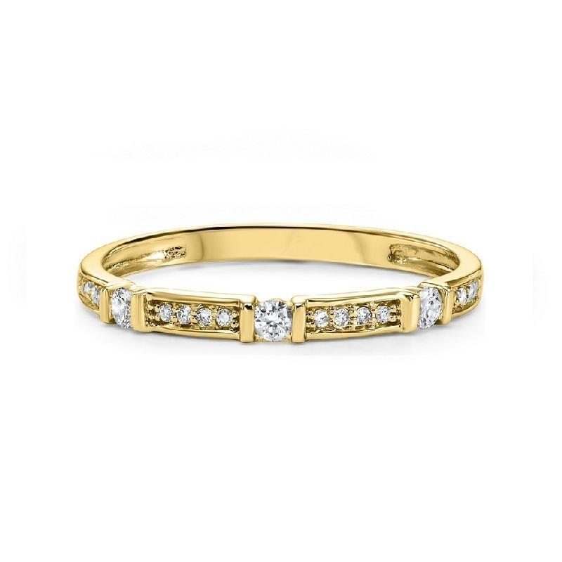 10K Yellow Gold Diamond Mixable Ring 1/6 ct