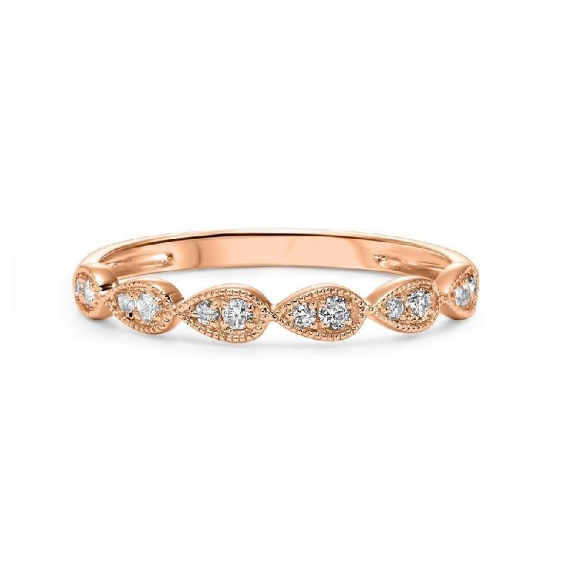 10K Rose Gold Diamond Mixable Ring 1/8 ct