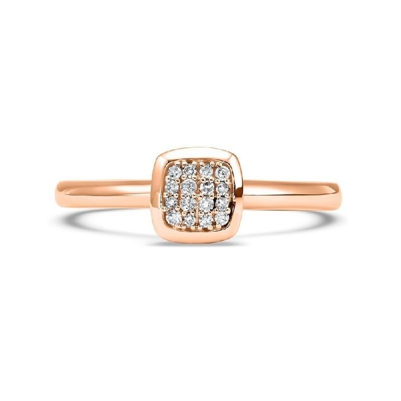 10K Rose Gold Diamond Mixable Ring 1/12 ct