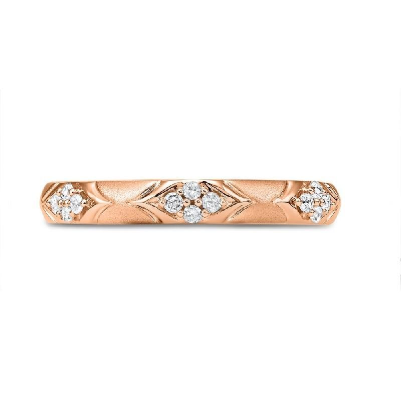 10K Rose Gold Diamond Ring - 1/8 ct.