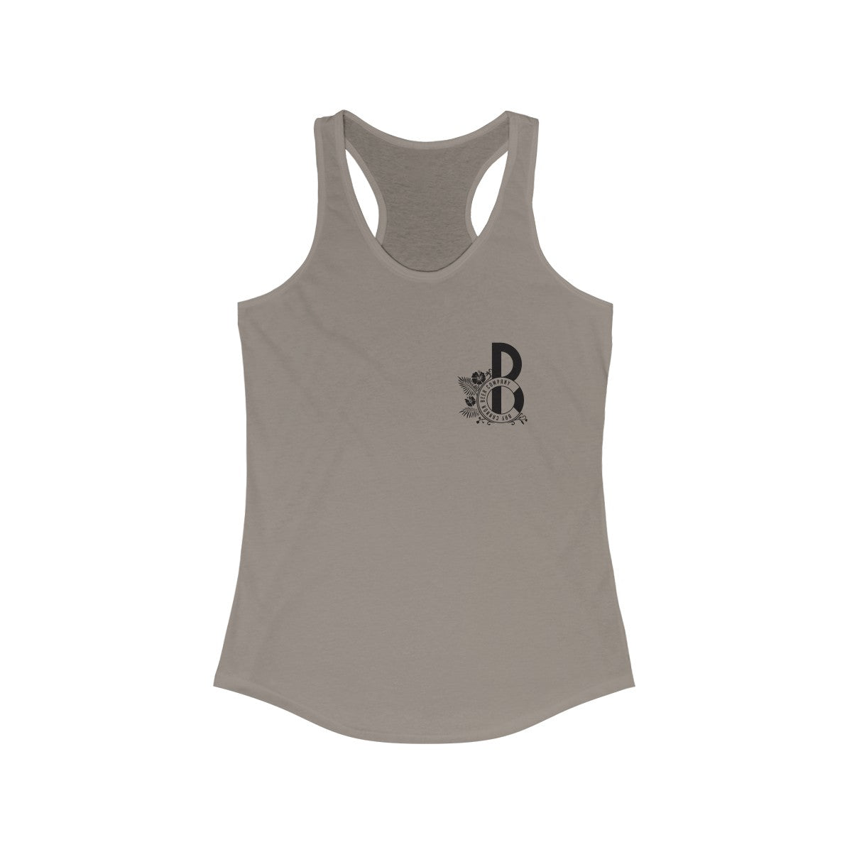Bay Cannon Beer Company Gray Pelican Racerback Next Level Tank