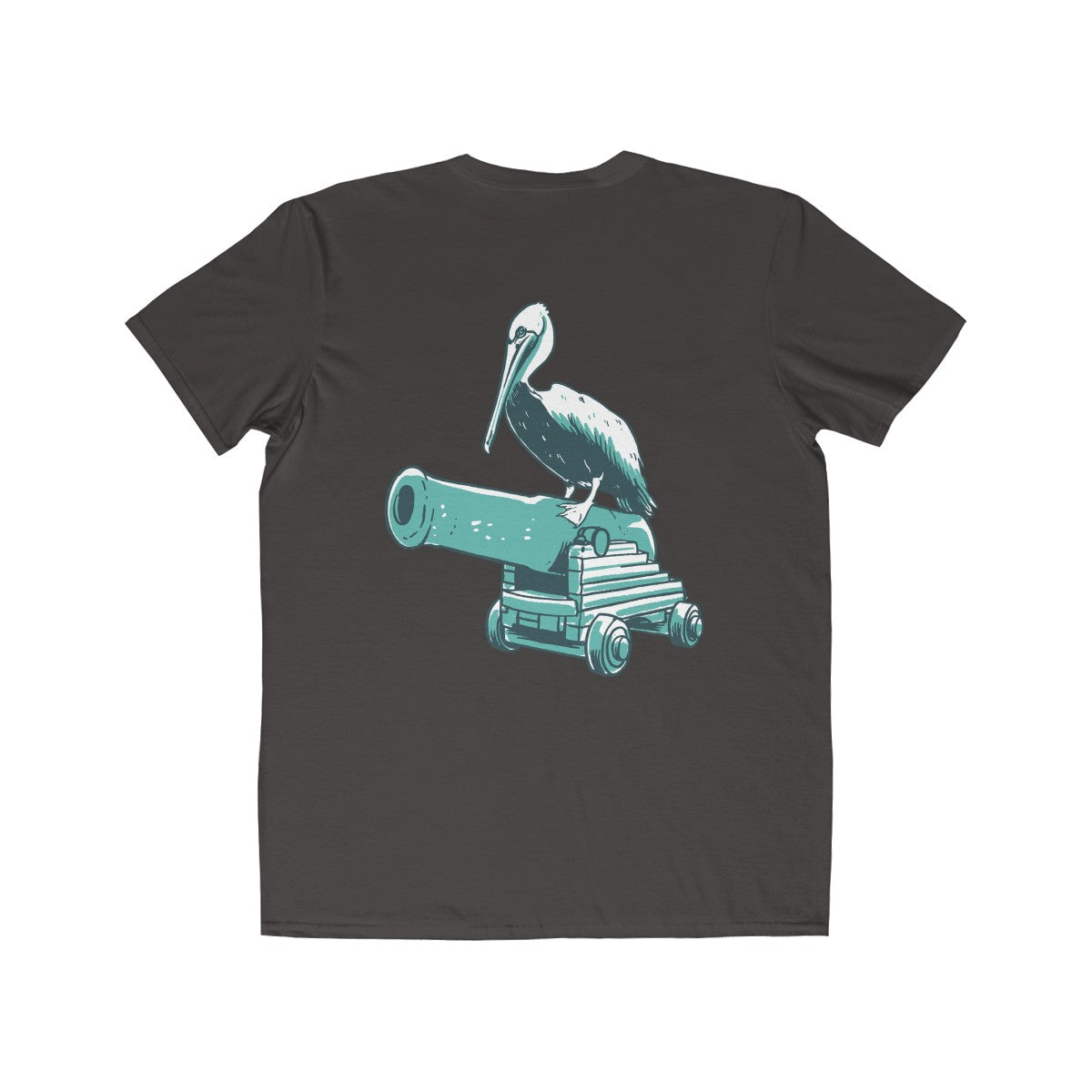 Bay Cannon Beer Company - Smoke Color Pelican Anvil T-Shirt