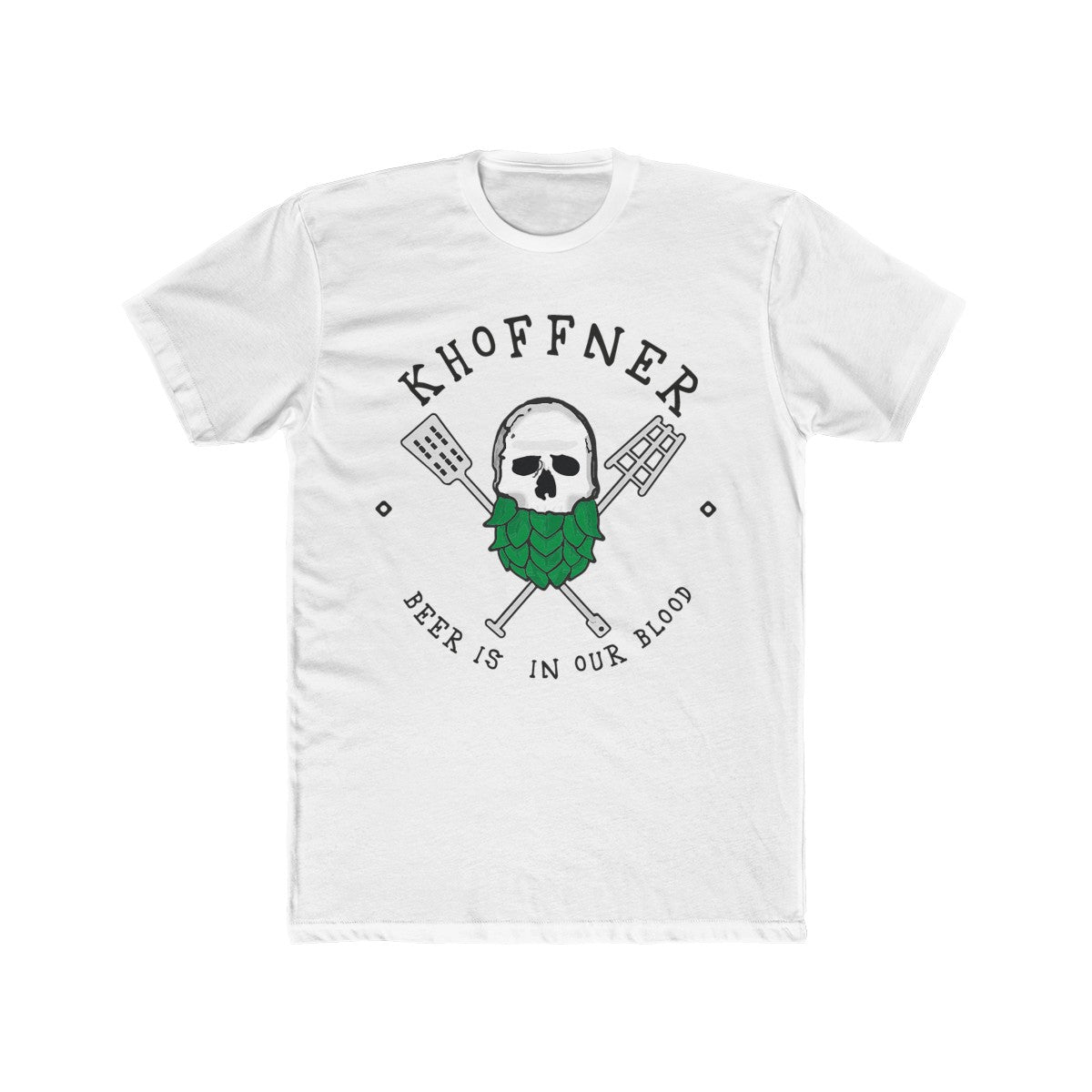 Khoffner Brewery Beer Is In Our Blood - Skull T-Shirt