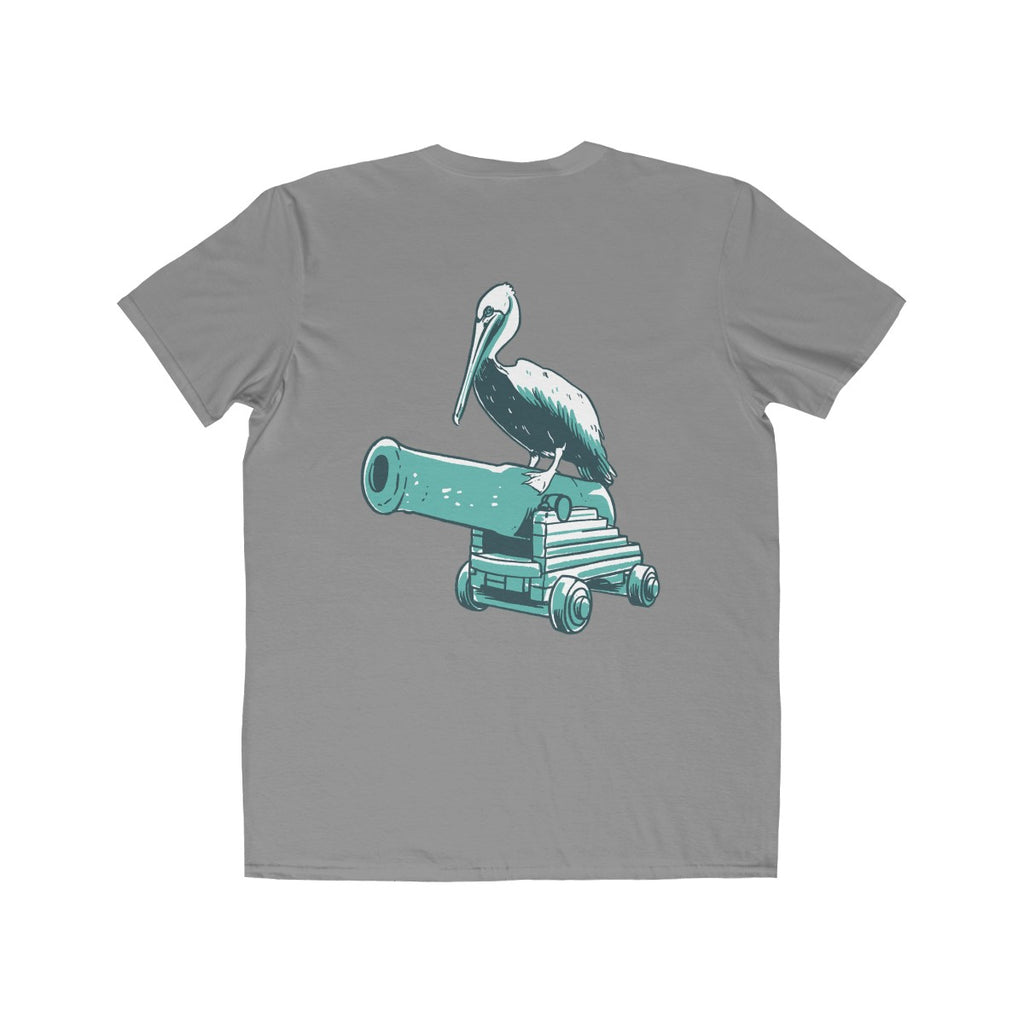 Bay Cannon Beer Company - Storm Gray Pelican Anvil T-Shirt