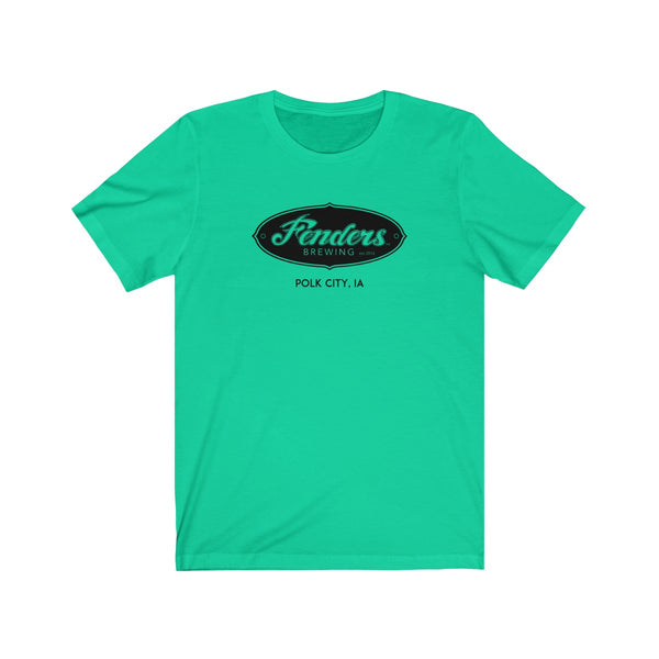 Fenders Brewing - Front & Back T-Shirt w/ Black Logo