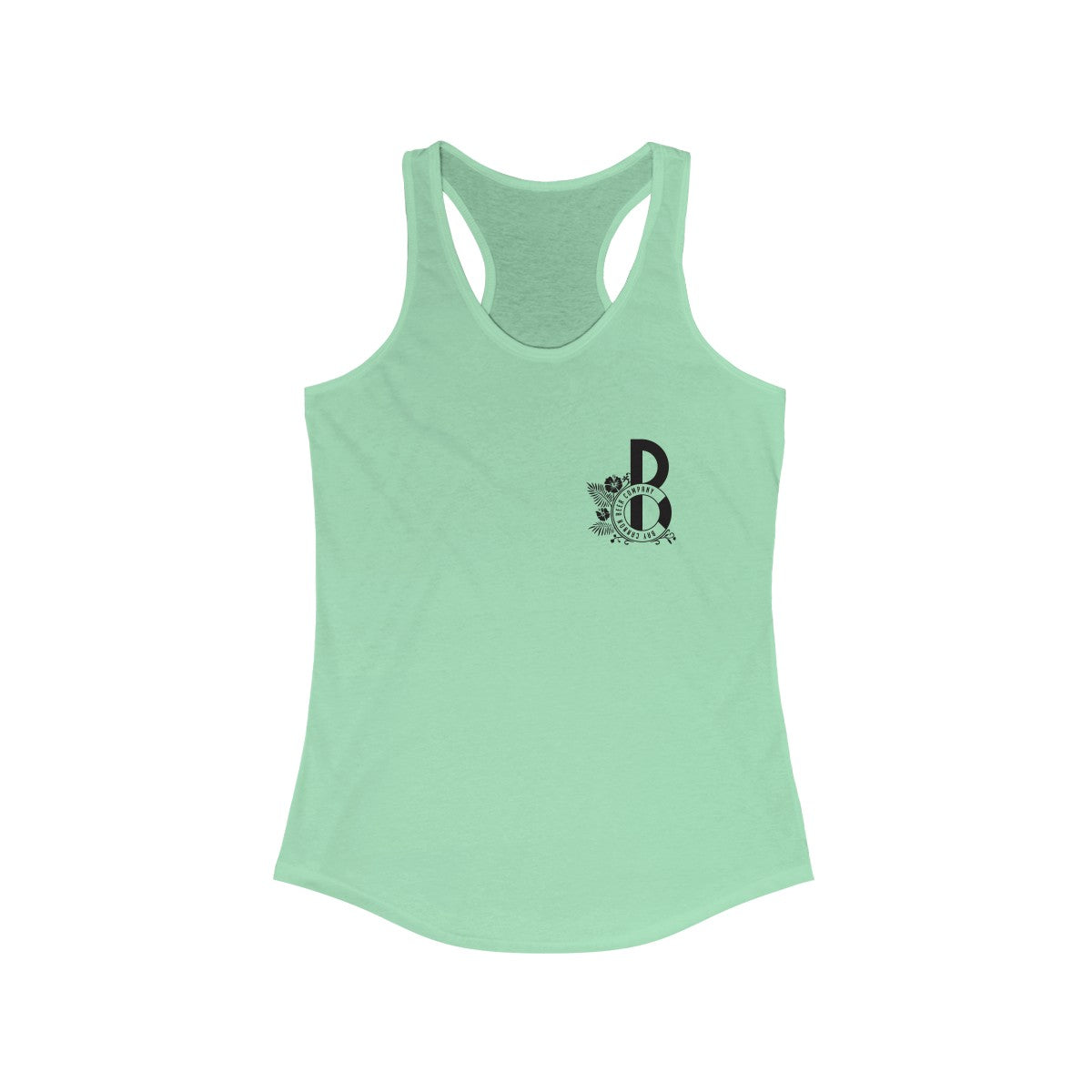 Bay Cannon Beer Company Mint Pelican Racerback Next Level Tank
