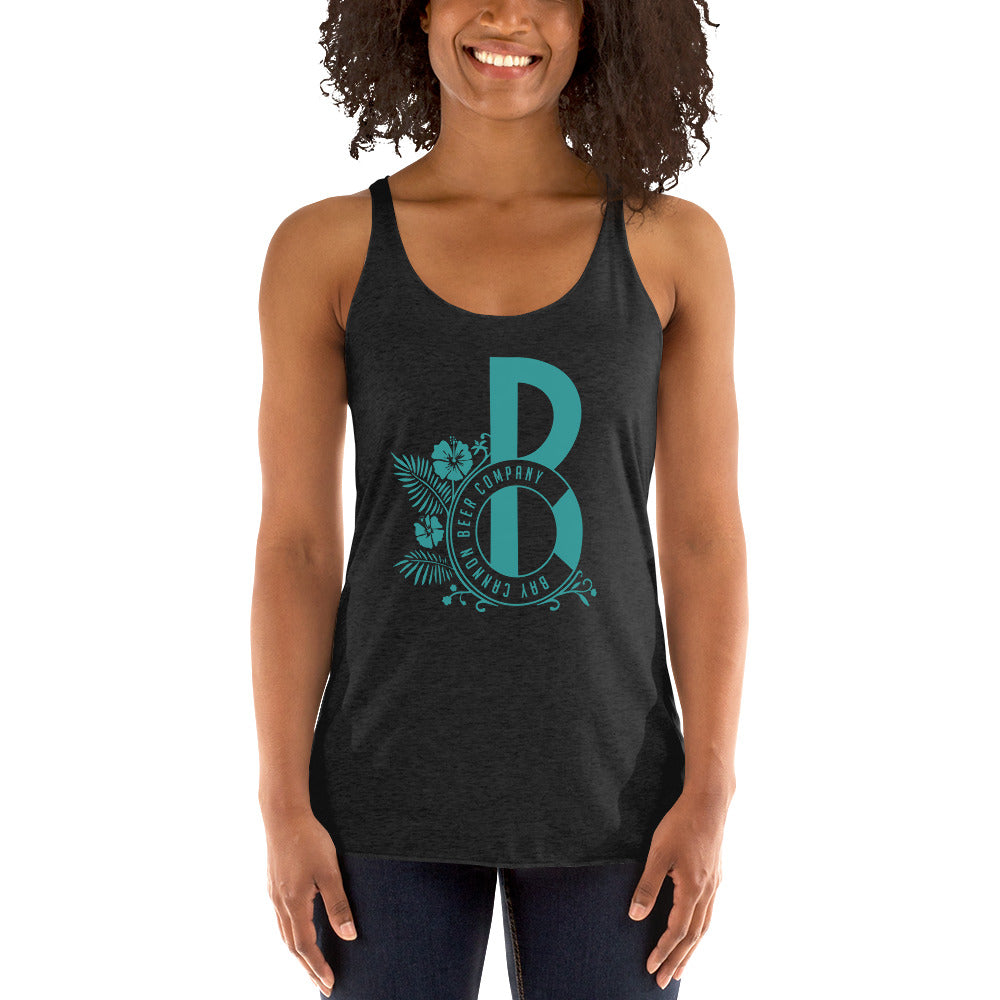 Bay Cannon Beer Company - Teal Logo Next Level Racerback Tank