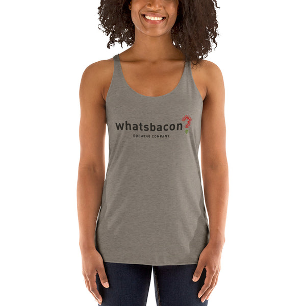 whatsbacon? - Women's Racerback Tank