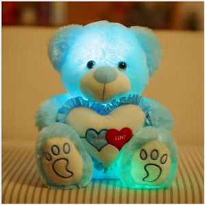 https://transparent-things.com Transparent Things LED Light Pillow Cushion Teddy Bear #transparentthingsstore