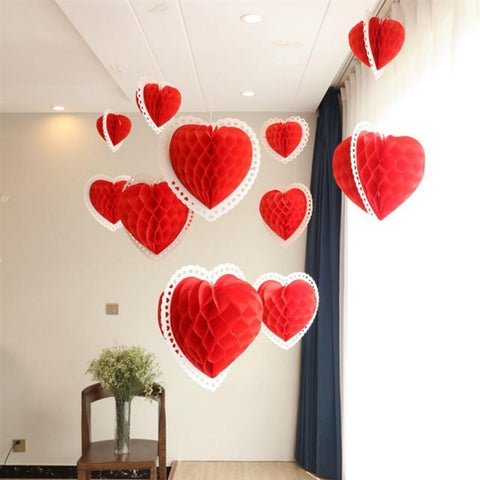 https://transparent-things.com - 3D Paper Love Heart Lantern - Transparent-Things - #transparentthingsstore