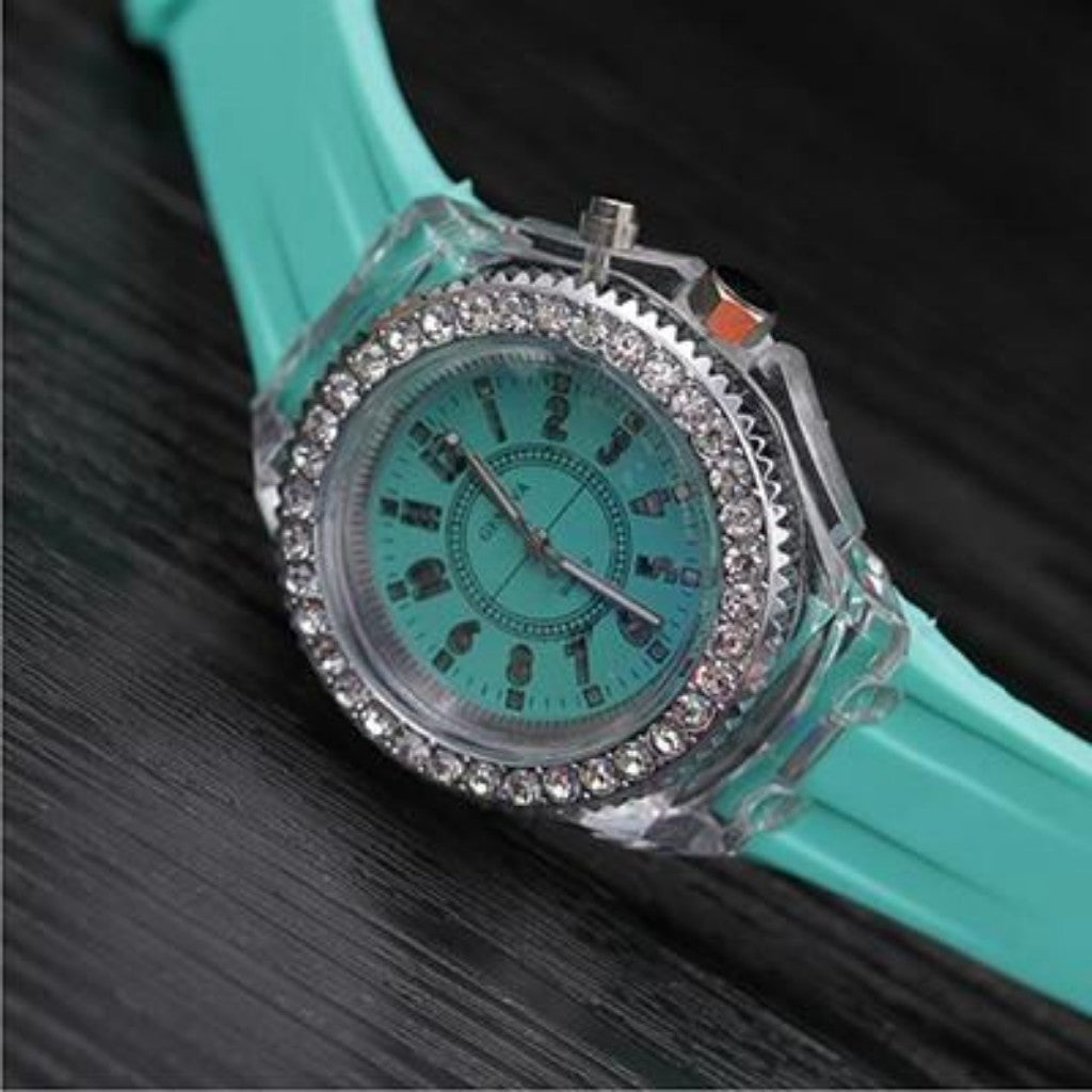 https://transparent-things.com - Luminous Transparent Silicone Children Watches - Transparent-Things - #transparentthingsstore