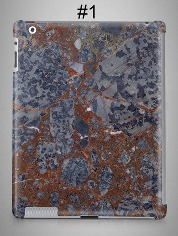 https://transparent-things.com - Blue & Red MARBLE iPad & iPad Mini Case - Transparent-Things - #transparentthingsstore