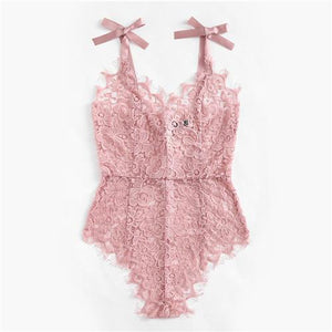 https://transparent-things.com - Floral Lace Sexy Bodysuit - Transparent-Things - #transparentthingsstore