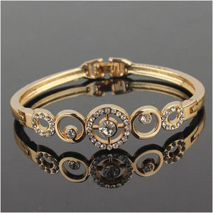 Gold Plated Crystal Bangle