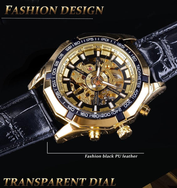 https://transparent-things.com - Luxury Luminous Hands Gold Watches - Transparent-Things - #transparentthingsstore