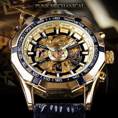 Luxury Luminous Hands Gold Watches