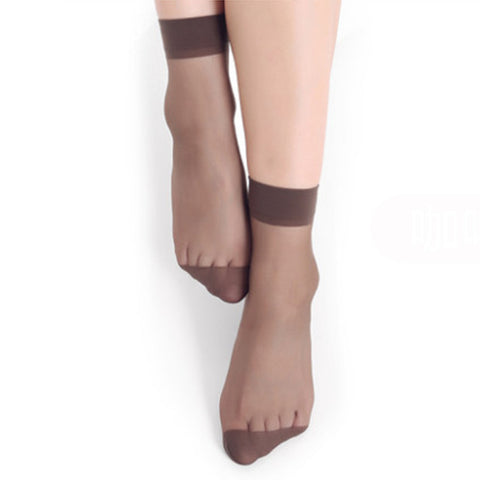 Women Velvet Socks, Thin Silk Transparent - Transparent Things