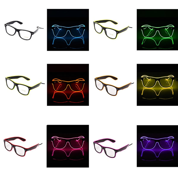 https://transparent-things.com - LED Glow Fluorescence Glasses - Transparent-Things - #transparentthingsstore
