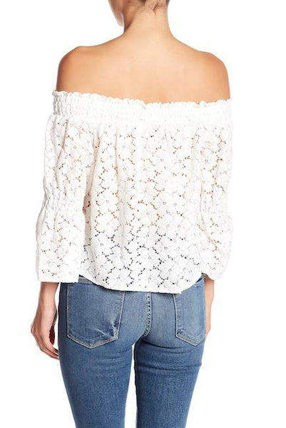 https://transparent-things.com - Women's 3/4 Sleeve Floral Lace Top - Transparent-Things - #transparentthingsstore