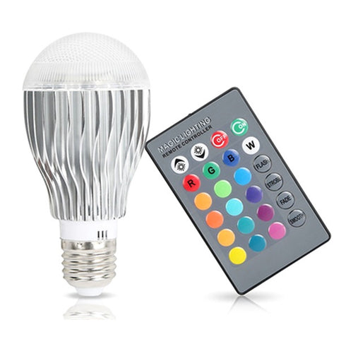 https://transparent-things.com - Multi Colour LED Light Bulb With Remote Control - Transparent-Things - #transparentthingsstore