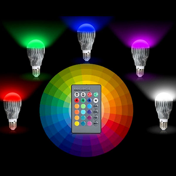 https://transparent-things.com - Multicolour LED Light Bulb With Remote Control - Transparent-Things - #transparentthingsstore