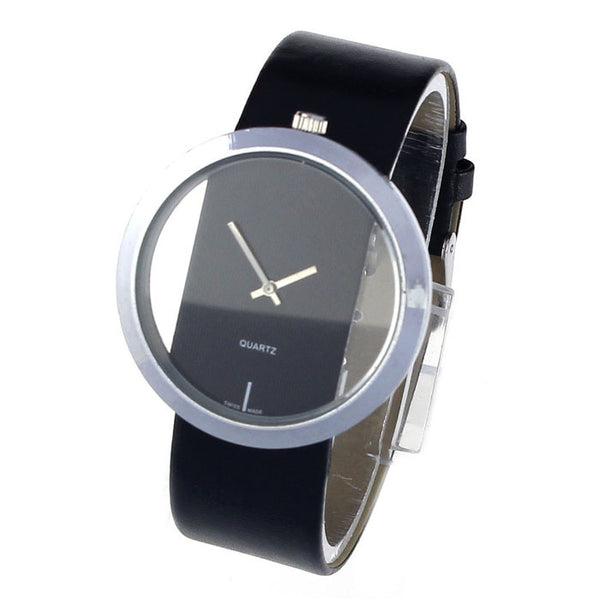 Unisex Transparent Hollow Dial Business Watches Men Military Clock Relogio Masculino #Ju - Transparent Things