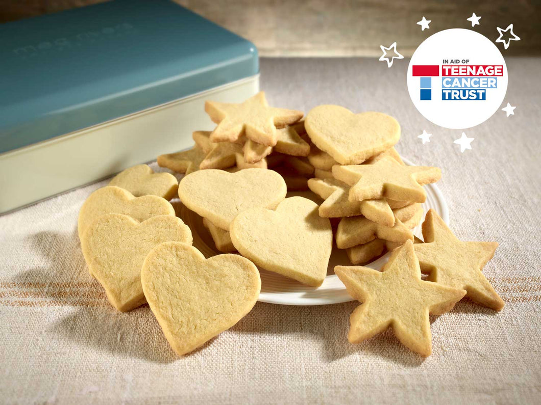 Hearts & Stars Classic Shortbread in Retro Gift Tin