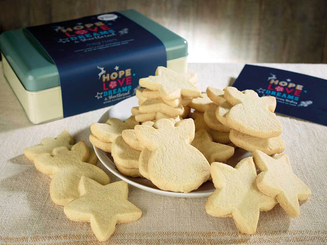 Teenage Cancer Trust Classic Shortbread Christmas Shapes - In a gift tin