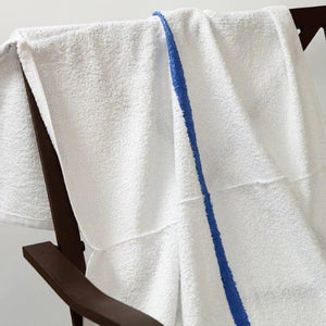 Pool Towels with Blue Center Stripe